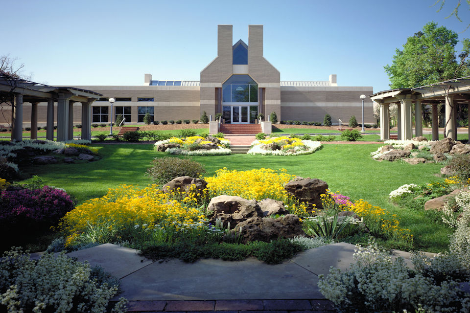 Rochester NY George Eastman House Archive Bldg Rock Garden