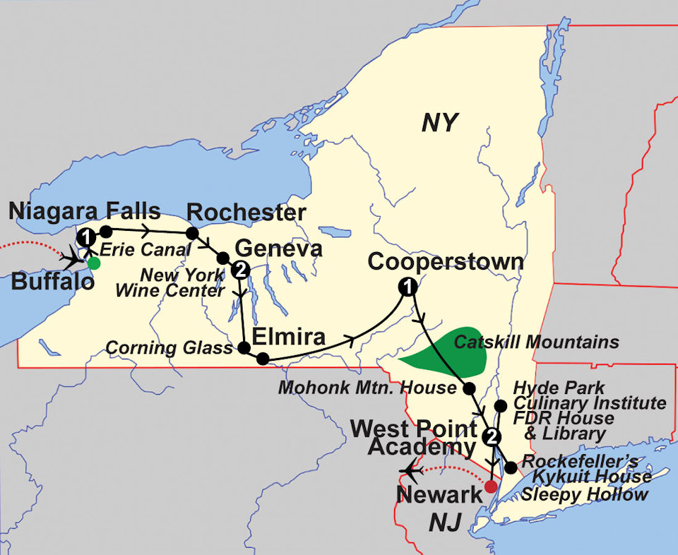 upstate new york hudson valley map